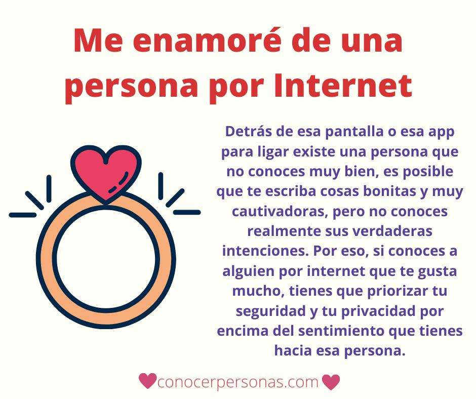 me enamoré de una persona por internet